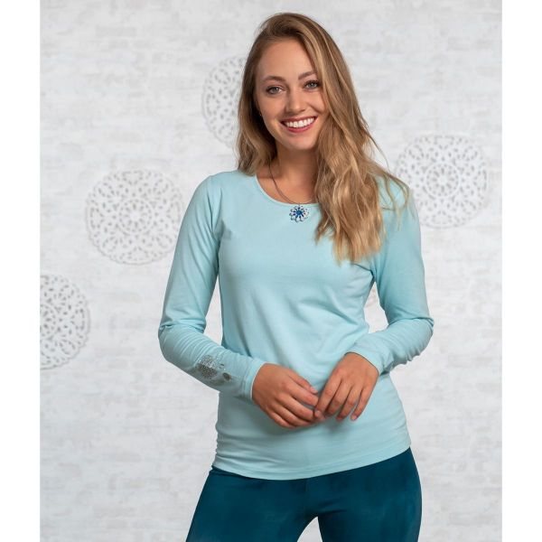 Langarm-Shirt Bambus blue-breeze