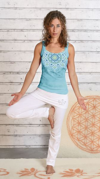 Yoga-Top Chakra tropical blue